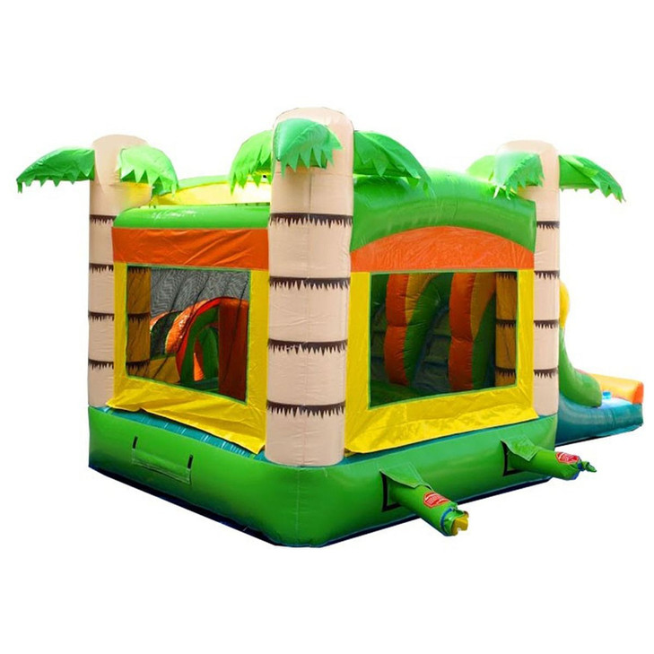 Tropical Bounce House and Double Slide!