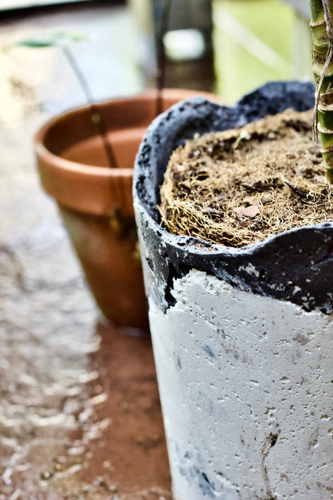 Reclaimed Concrete Pot (Medium) 1