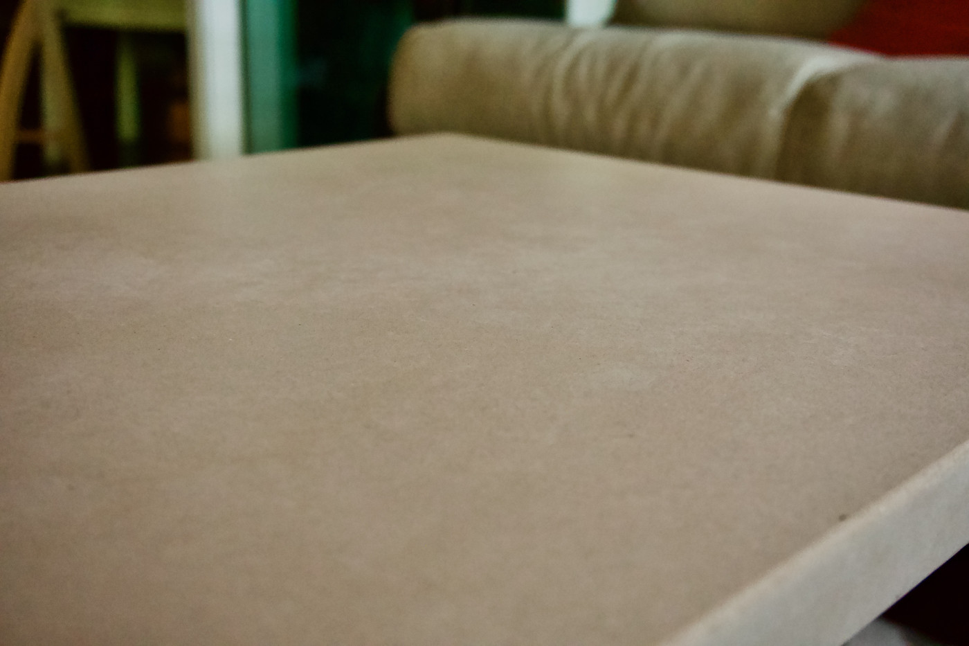 Covered Lanai Area With Concrete Coffee Table - Detail Shot