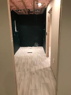 Master Bathroom - During