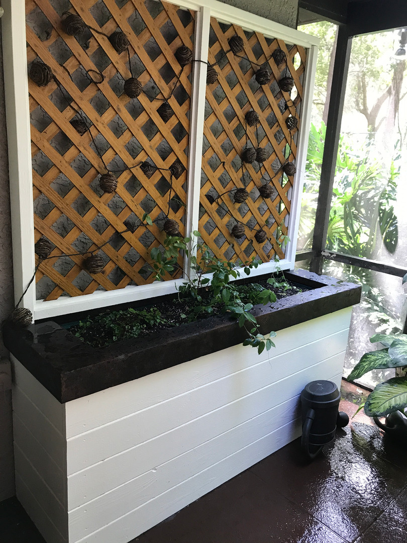 Large Planter w Concrete Top for Lanai