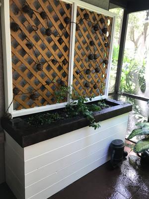 Large Planter w Concrete Top for Lanai