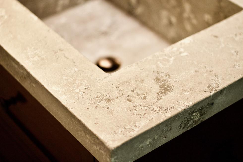 Master Bathroom Concrete Vanity - Detail Shot