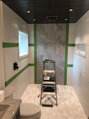 Concrete Wall Concrete Wall Panels Prepped For Caulking