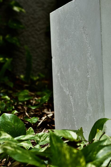 White Concrete End Table - Detail Shot