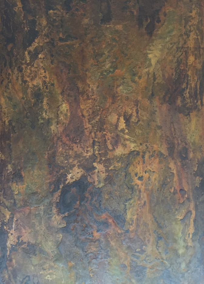 Terra Firma Concrete Coffee Table - Medium Texture - Adamantoise Shell Acid Stain