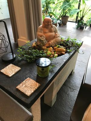 Concrete Buddha Planter for Porch