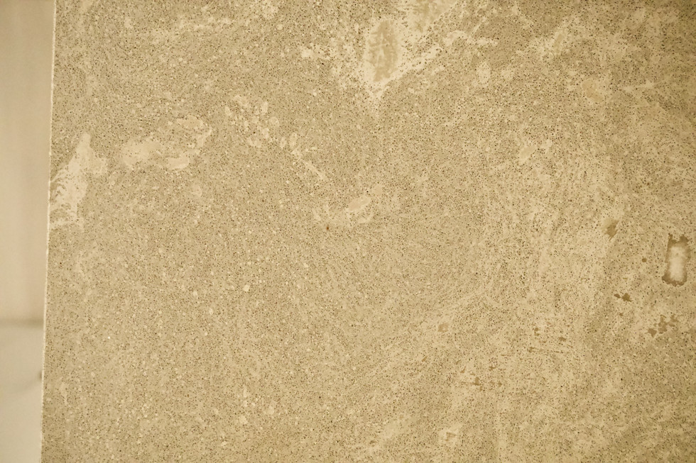 Linen Nook With Small Concrete Countertop - Detail Shot