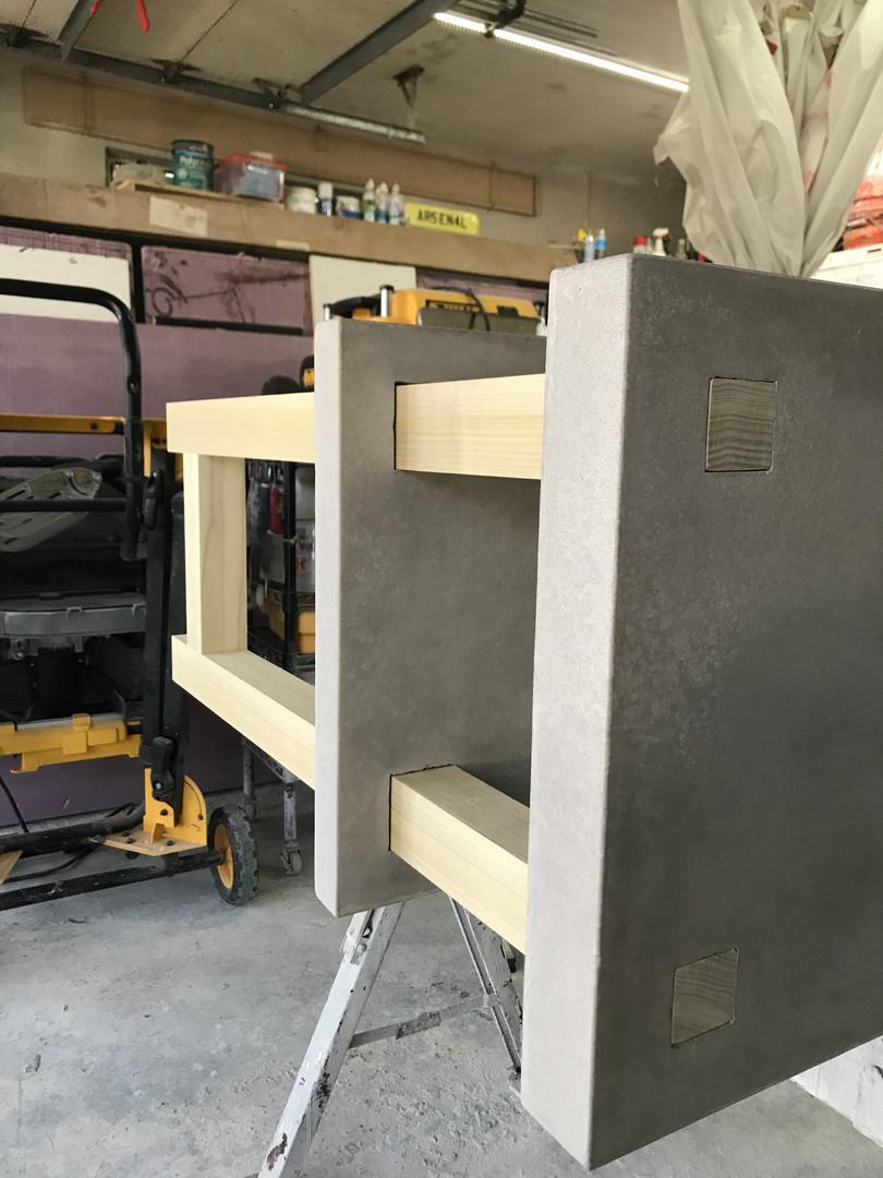 Wooden Base Leg Section Test Fit