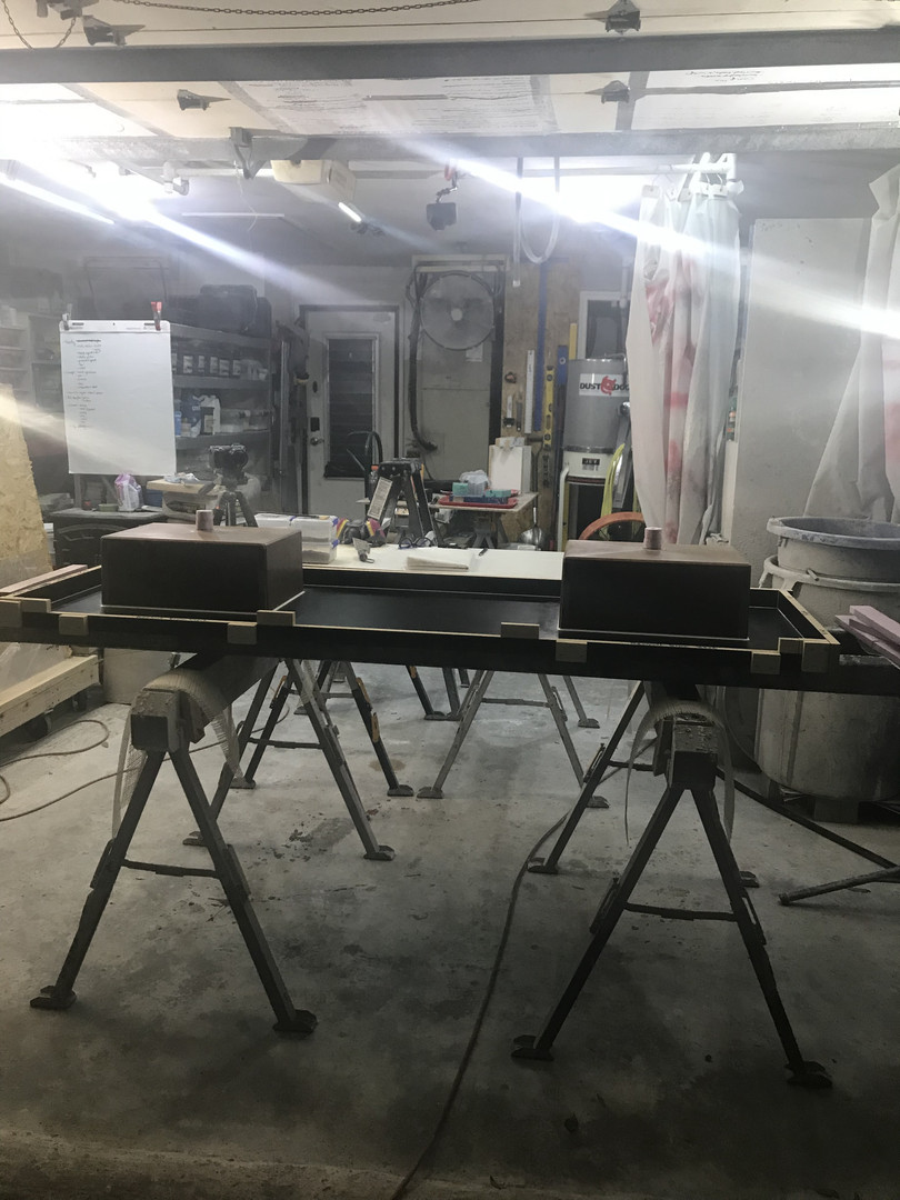 Concrete Vanity Mold With Two Integral Sink Molds