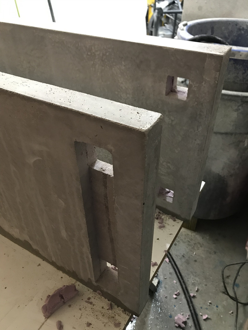 Knockouts In Concrete To Accept Wooden Base Components