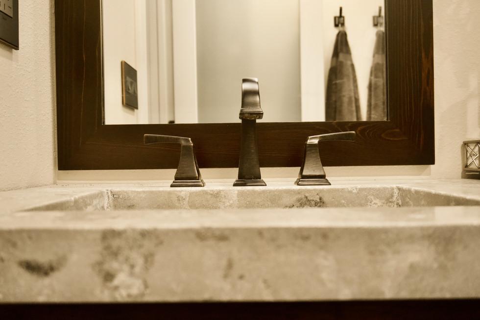 Master Bathroom Concrete Vanity