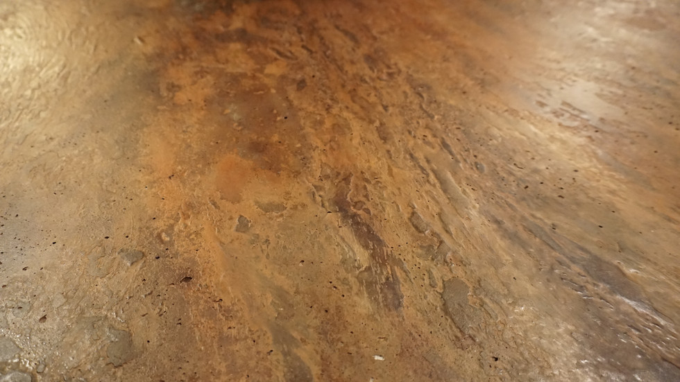 Terra Firma Concrete Coffee Table - Light Texture - Autumn In Ascalon Acid Stain