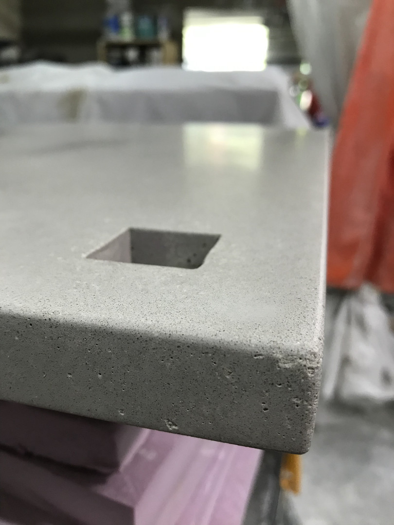Concrete Nightstand - Detail Shot