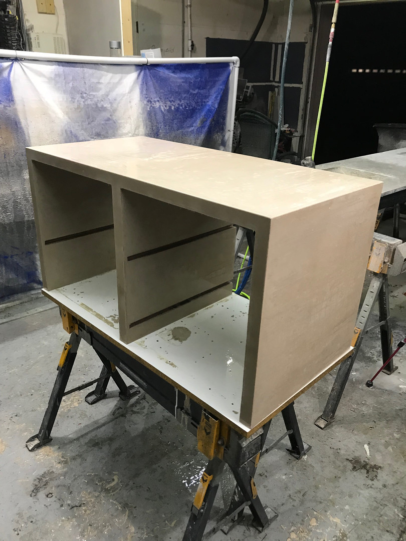 Freshly Demolded Concrete Entertainment Console