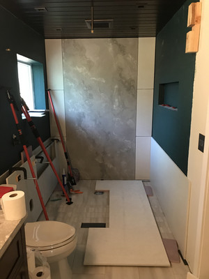 Prepping To Instal Middle Concrete Wall Panels