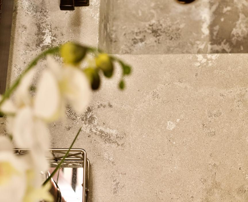Master Bathroom Concrete Vanity - Top View