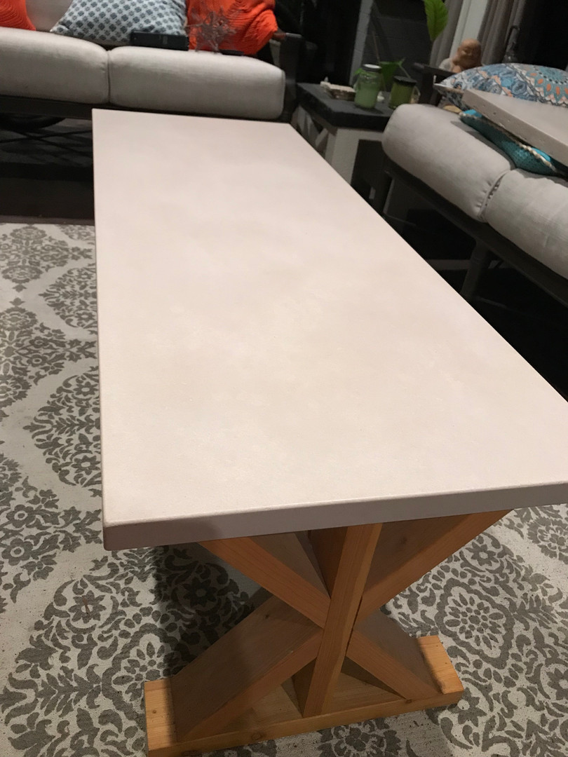 Concrete Coffee Table for Lanai