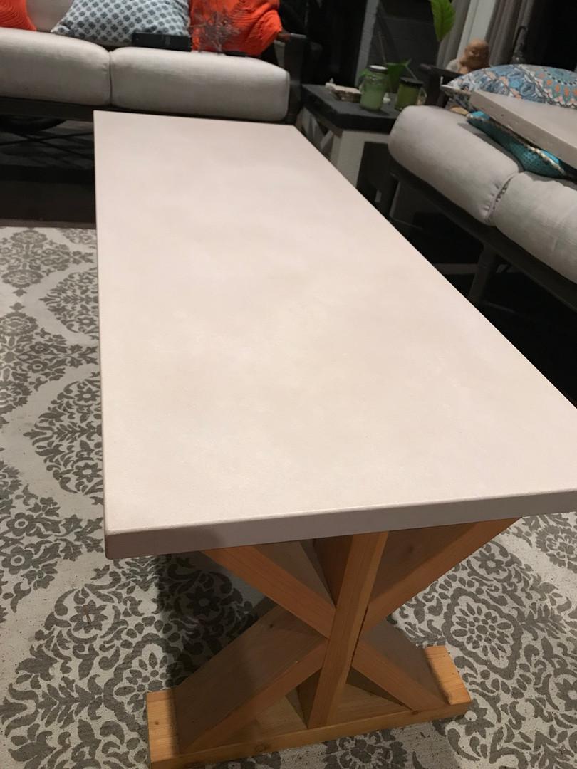Concrete Coffee Table for Lanai
