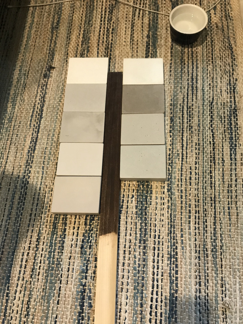 Concrete Color Samples & Wood Sample