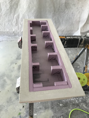 Concrete Shelf Ready For Processing