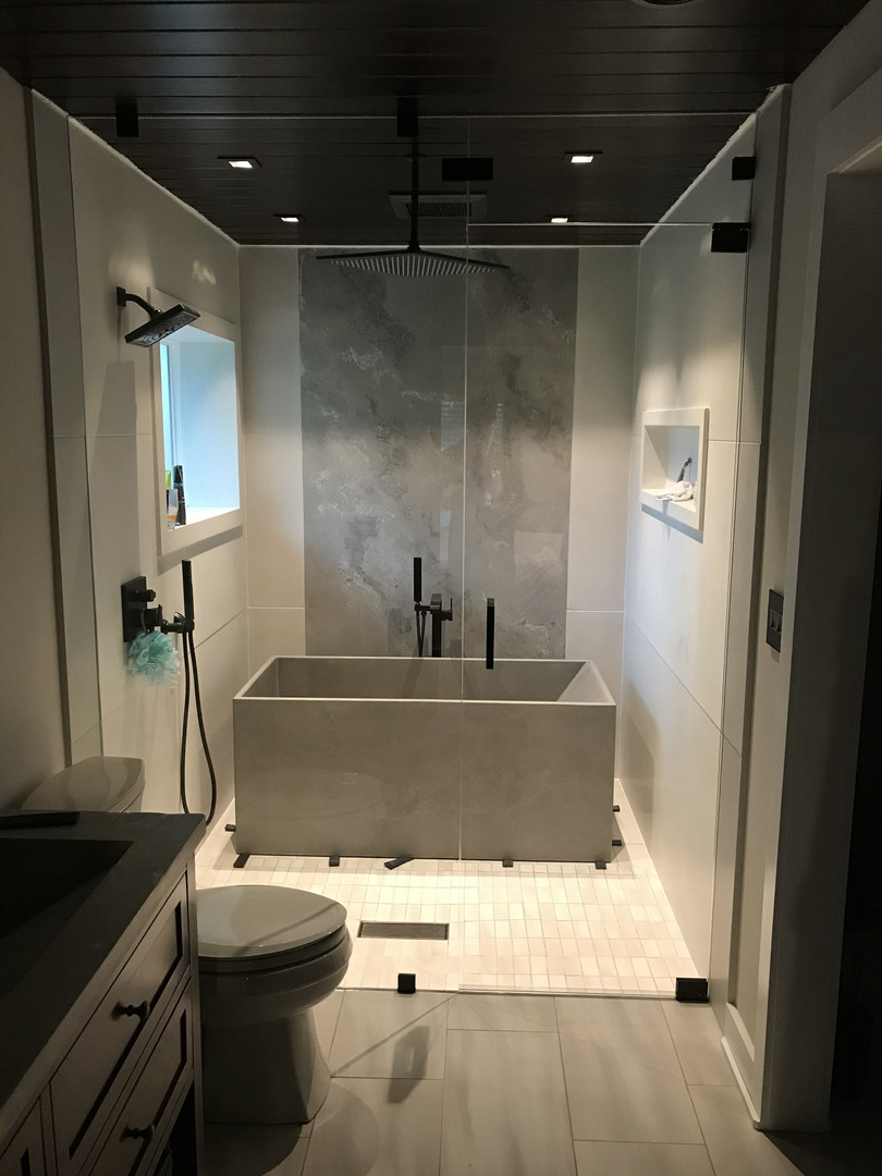 Bathtub Installed & Wet Room Glass Installed