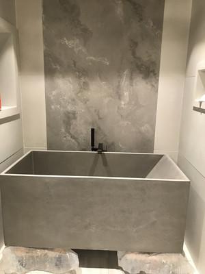 Concrete Bathtub Ready For Install