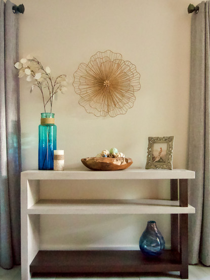 Concrete Wall Table With Poplar Base
