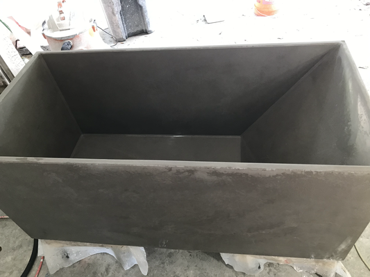 Freshly Demolded Concrete Bathtub