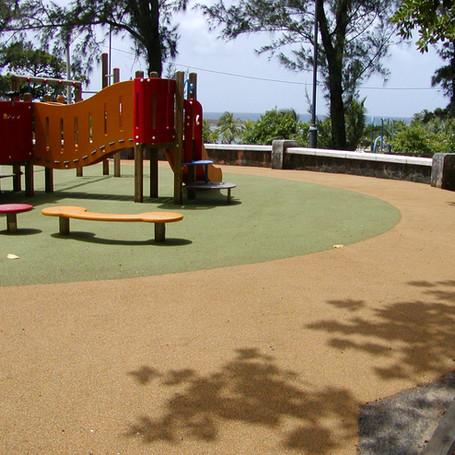 Full Color Rubber Flooring for Parque Luis Munoz Rivera