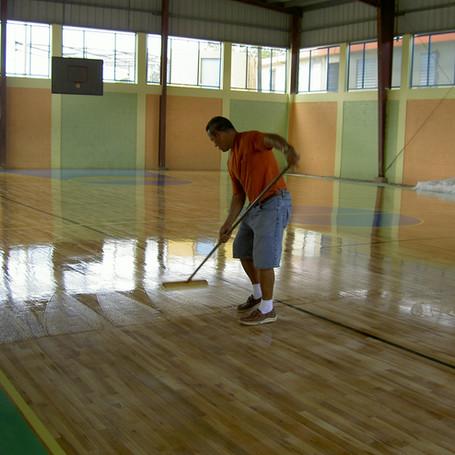 Wood Court Flooring for Patillas