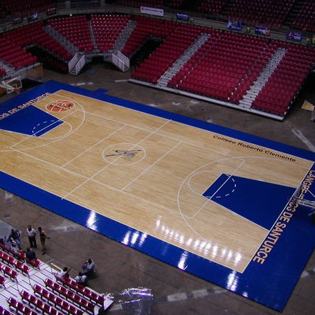 Wood Flooring & Seating for Coliseo Roberto Clemente