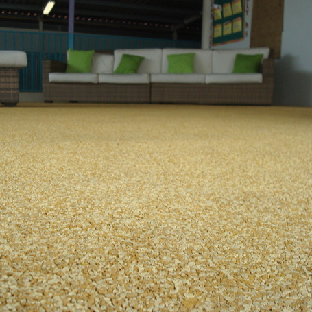 Two Tone Full Color Rubber Flooring for Centro Head Start, Puerto Rico