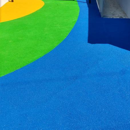 Full Color Rubber Flooring for Head Start- Puerto Rico