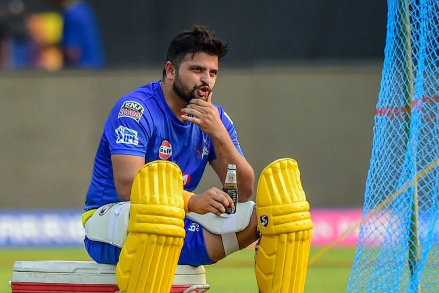 Raina in a practice session