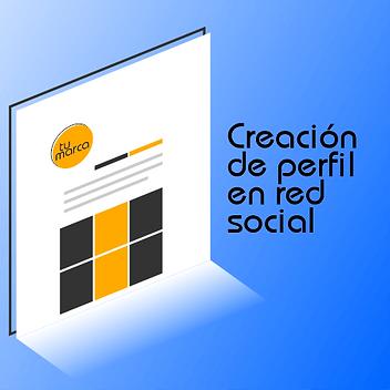 Creación de perfil en redes sociales