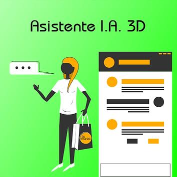 Asistente de chat y ventas IA 3D