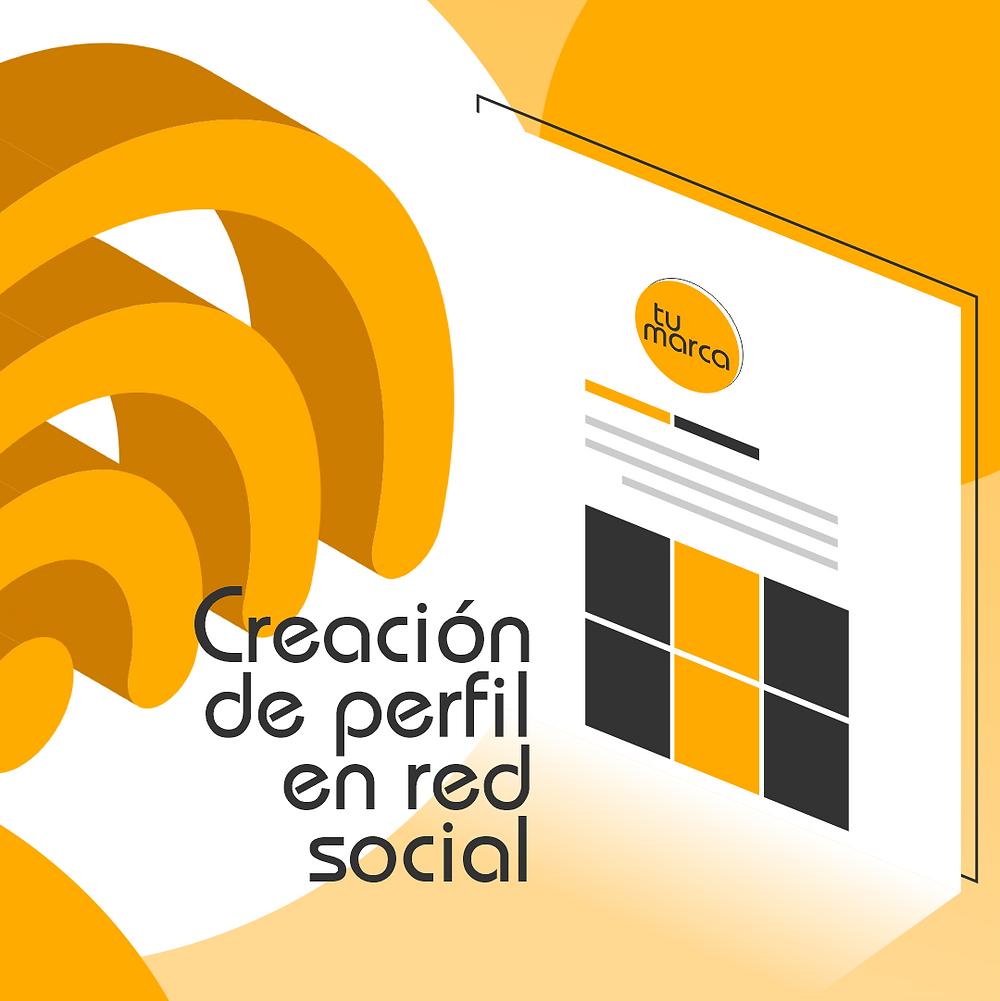 Creación de perfil de redes sociales
