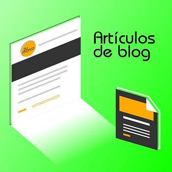 Creación de artículos para blog