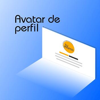 Diseño de avatar de perfil