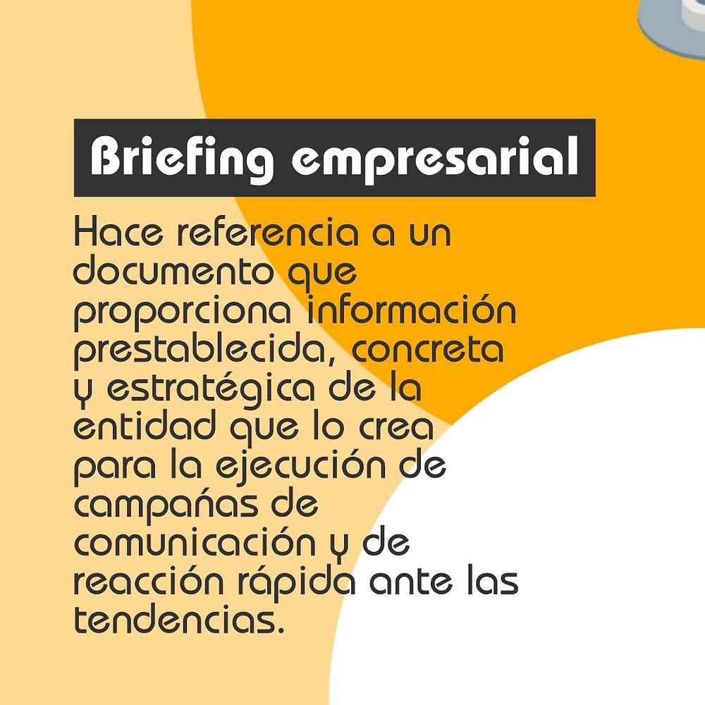 ¿Qué es un briefing empresarial?