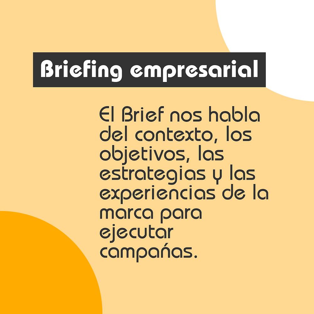 ¿Cuál es el contenido de un brief?