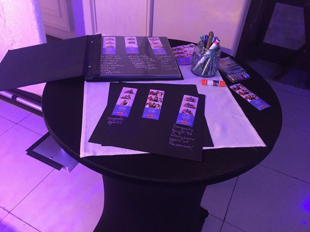 High table scrapbook station.