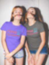 funny-girls-wearing-tshirts-mockup-while