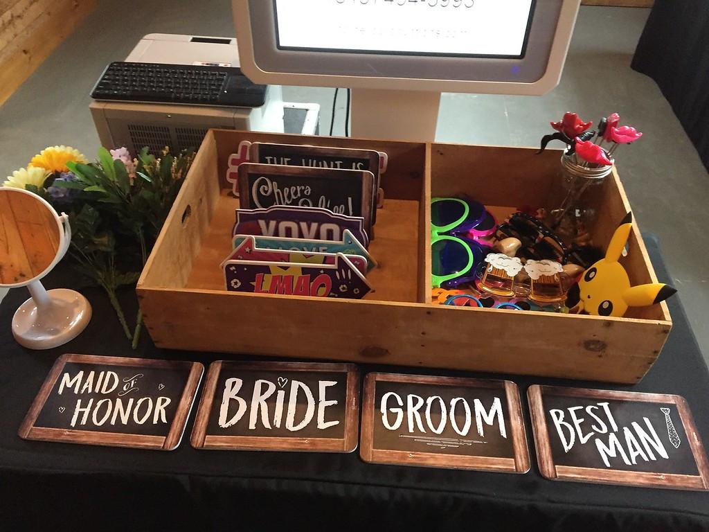 Wedding prop table.