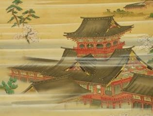 静岡浅間神社大拝殿の掛け軸