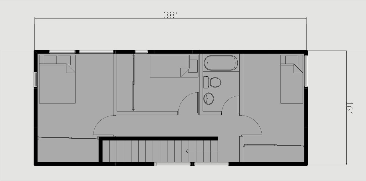 Bar Module Second Floor Plan