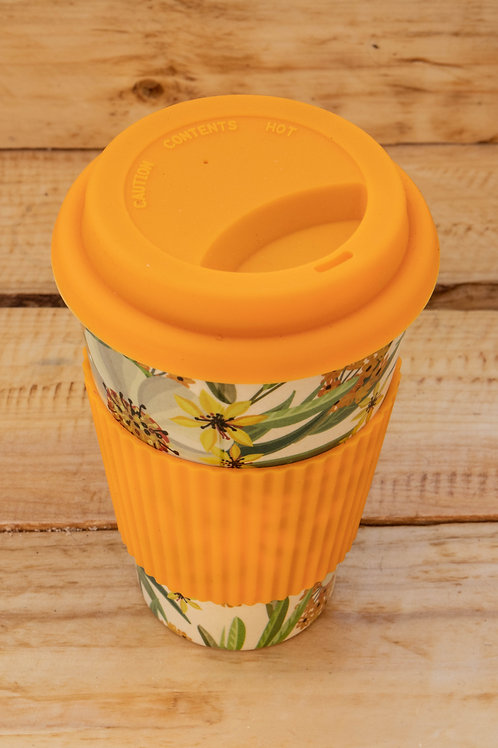 Bamboo Travel Mug - Orange