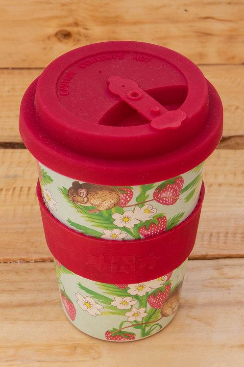 Rice Husk Travel Mug - Red