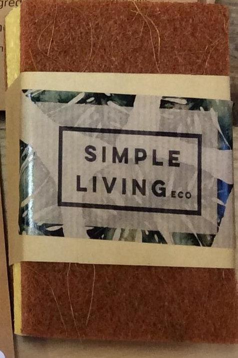 2 Compostable Dish Sponges -Simple Living Eco